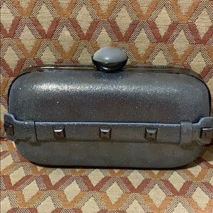 Elegant hard clutch purse
